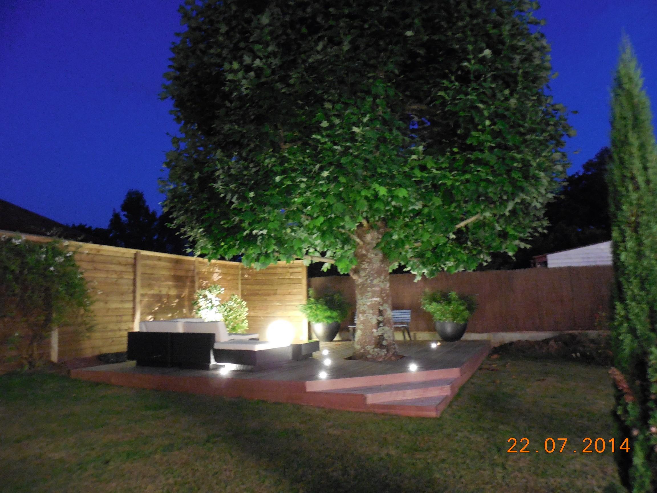 terrasse en ipe ustaritz 64 cl ture bois spa terrasse avec clairage int gr paysabois bois. Black Bedroom Furniture Sets. Home Design Ideas