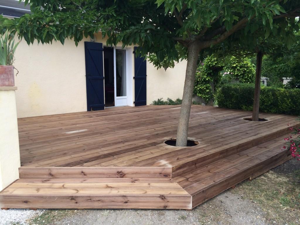 terrasse en pin sylvestre morlanne 64. Black Bedroom Furniture Sets. Home Design Ideas