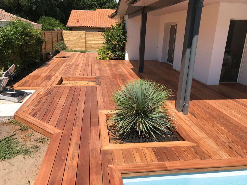 Paysabois etudie votre projet de terrasse en bois Muiracatiara pour une piscine