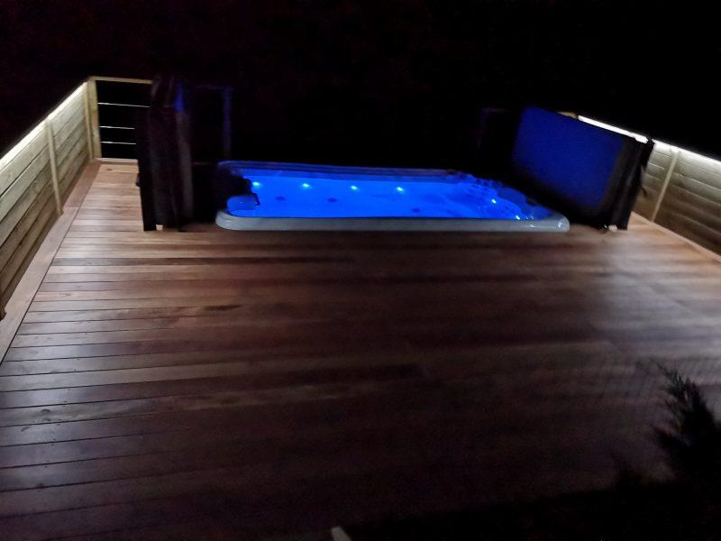 pose d'une terrasse en bois dans le 64